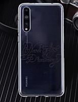 Недорогие -Кейс для Назначение Huawei P20 / P20 Pro Ультратонкий / Прозрачный / С узором Кейс на заднюю панель Слова / выражения Мягкий ТПУ для Huawei P20 / Huawei P20 Pro / Huawei P20 lite