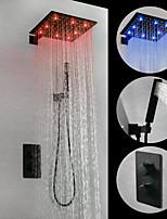 Недорогие -Смеситель для душа - Современный Живопись На стену Медный клапан