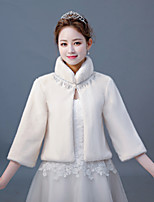 cheap -3/4 Length Sleeve Faux Fur Wedding / Party / Evening Women's Wrap With Chain Coats / Jackets