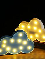 Недорогие -BRELONG® 1шт облако 3D ночной свет Тёплый белый Аккумуляторы AAA Для детей / Очаровательный / Украшение <5 V