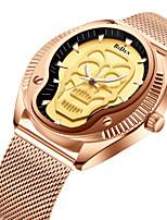 Недорогие -Муж. Наручные часы Японский Японский кварц 30 m Повседневные часы Cool Нержавеющая сталь Группа Аналоговый Роскошь Мода Черный / Розовое золото - Черный Розовое золото Один год Срок службы батареи