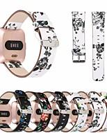 abordables -Bracelet de Montre  pour Fitbit Versa Fitbit Bracelet en Cuir Vrai Cuir Sangle de Poignet