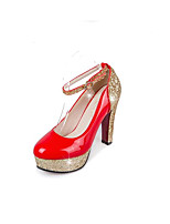 abordables -Femme Escarpins Cuir Nappa / Polyuréthane Printemps Chaussures à Talons Talon Bottier Blanc / Noir / Rouge