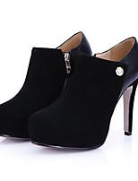 abordables -Femme Chaussures de confort Daim / Cuir Nappa Hiver Chaussures à Talons Talon Aiguille Noir / Beige / Bourgogne