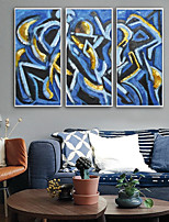 cheap -Framed Canvas / Framed Set - Abstract Plastic Illustration