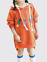 cheap -Toddler Girls' Solid Colored Long Sleeve Dress