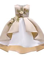 preiswerte -Kinder Mädchen Blumen Ärmellos Kleid
