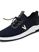 Недорогие -Муж. Комфортная обувь Сетка Осень На каждый день Кеды Дышащий Серый / Синий / Вино / на открытом воздухе