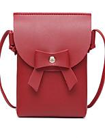 Недорогие -Жен. Мешки PU Мобильный телефон сумка Бант(ы) Геометрический принт Розовый / Бежевый / Серый