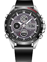 cheap -Men's Sport Watch Japanese Quartz 100 m Water Resistant / Water Proof Calendar / date / day Chronograph PU Band Analog-Digital Casual Fashion Black - Black Red / Noctilucent