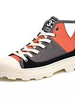 Недорогие -Муж. Комфортная обувь Полотно / Полиуретан Осень Кеды Серый / Красный / Зеленый