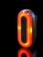baratos -Á Prova d'água / Luz Traseira Para Bicicleta / Luzes da cauda LED Luzes de Bicicleta LED Ciclismo Impermeável, Portátil, Profissional Li-polímero 50 lm Potência Recarregável Vermelho Campismo