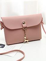 Недорогие -Жен. Мешки PU Мобильный телефон сумка Сплошной цвет Красный / Розовый / Серый