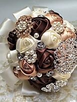 """baratos -Bouquets de Noiva Buquês Casamento / Ocasião Especial Poliéster 7.09""""(Aprox.18cm)"""