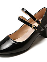 abordables -Femme Escarpins Polyuréthane Automne Chaussures à Talons Talon Bottier Bout carré Noir / Vin / Quotidien