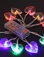baratos -1.2m Cordões de Luzes 10 LEDs Multicolorido Decorativa / Adorável Baterias alimentadas 1conjunto