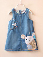cheap -Kids Girls' Animal / Cartoon Sleeveless Dress