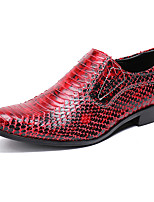 Недорогие -Муж. Официальная обувь Наппа Leather Осень Английский Туфли на шнуровке Доказательство износа Белый / Черный / Винный / Для вечеринки / ужина