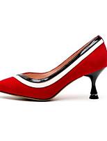 abordables -Femme Escarpins Daim / Peau de mouton Printemps Chaussures à Talons Talon Aiguille Bout fermé Noir / Rouge
