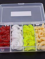 Недорогие -100 pcs Рыболовная приманка Мягкие приманки пластик Прост в применении Морское рыболовство / Ловля нахлыстом / Ловля на приманку / Ловля со льда / Спиннинг / Ловля на крючок / Пресноводная рыбалка