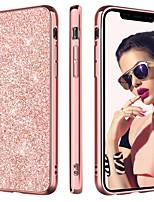 Недорогие -Кейс для Назначение Apple iPhone XR / iPhone XS Max Покрытие / Ультратонкий / Сияние и блеск Кейс на заднюю панель Сияние и блеск Твердый Кожа PU / ПК для iPhone XR / iPhone XS Max