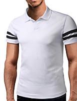 Недорогие -Муж. Polo Рубашечный воротник Тонкие Контрастных цветов / С короткими рукавами