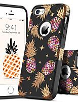 Недорогие -Кейс для Назначение Apple Кейс для iPhone 5 Защита от удара / С узором Кейс на заднюю панель Растения / Фрукты Твердый ПК для iPhone SE / 5s / iPhone 5