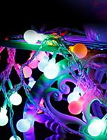 baratos -10m Cordões de Luzes 100 LEDs Multicolorido Decorativa / Adorável 220-240 V 1conjunto