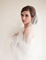 Недорогие -Один слой Старинный / Классический Свадебные вуали Фата до кончиков пальцев с Однотонные Тюль