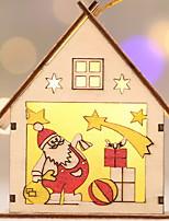 baratos -Luz de Decoração / Enfeites de Natal Natal De madeira Novidades Decoração de Natal