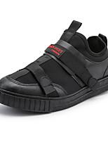 Недорогие -Муж. Комфортная обувь Искусственная кожа Наступила зима На каждый день Кеды Контрастных цветов Черный / Красный