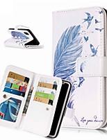 Недорогие -Кейс для Назначение Apple iPhone XR / iPhone XS Max Кошелек / Бумажник для карт / со стендом Чехол  Перья Твердый Кожа PU для iPhone XS / iPhone XR / iPhone XS Max