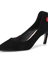 Недорогие -Жен. Комфортная обувь Замша / Овчина Весна Обувь на каблуках На шпильке Черный