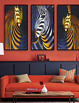 cheap -Framed Canvas / Framed Set - Abstract / Animals Plastic Illustration