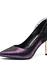 abordables -Femme Chaussures de confort Daim Automne Chaussures à Talons Talon Aiguille Violet