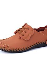 Недорогие -Муж. Кожаные ботинки Кожа Наступила зима На каждый день Кеды Нескользкий Оранжевый / Серый / Коричневый