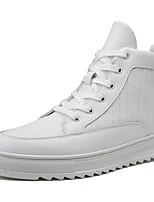 Недорогие -Муж. Комфортная обувь Полиуретан Осень На каждый день Кеды Дышащий Белый / Черный / Желтый