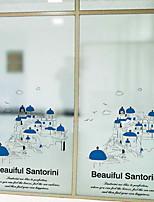 Недорогие -Оконная пленка и наклейки Украшение Обычные Геометрический принт / Персонажи ПВХ Стикер на окна / Очаровательный