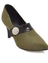 Недорогие -Жен. Балетки Полиуретан Весна Обувь на каблуках На шпильке Красный / Зеленый / Миндальный