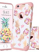 Недорогие -Кейс для Назначение Apple iPhone 6 Plus Защита от удара / С узором Кейс на заднюю панель Растения / Фрукты Мягкий ПК / силикагель для iPhone 6s Plus / iPhone 6 Plus