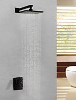 Недорогие -Смеситель для душа / Ванная раковина кран - Современный Живопись На стену Медный клапан