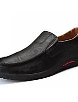 baratos -Homens Sapatos Confortáveis Couro Ecológico Primavera & Outono Mocassins e Slip-Ons Preto / Marron / Azul