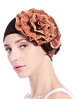 Недорогие -Жен. Классический / Праздник Широкополая шляпа - Бусины Однотонный