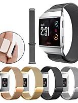 baratos -Pulseiras de Relógio para Fitbit ionic Fitbit Pulseira Estilo Milanês Aço Inoxidável Tira de Pulso