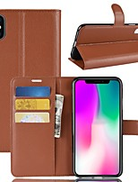 cheap -Case For Apple iPhone XS / iPhone XR Wallet / Card Holder / Flip Full Body Cases Solid Colored Hard PU Leather for iPhone XS / iPhone XR / iPhone XS Max