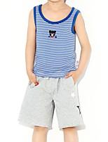 Недорогие -Дети / Дети (1-4 лет) Мальчики С принтом Без рукавов Майка