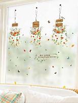 cheap -Window Film & Stickers Decoration Ordinary / Simple Flower / Floral PVC(PolyVinyl Chloride) Window Sticker