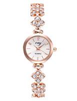 baratos -Mulheres Bracele Relógio Relógio de Pulso Quartzo Relógio Casual Lega Banda Analógico Fashion Minimalista Dourada - Dourado