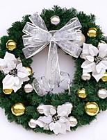 baratos -Guirlandas Natal PVC Circular Novidades Decoração de Natal