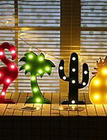 abordables -HKV 4pcs LED Night Light Blanc / Rouge / Jaune Piles AA alimentées Pour les enfants / Bande dessinée / Créatif Pile